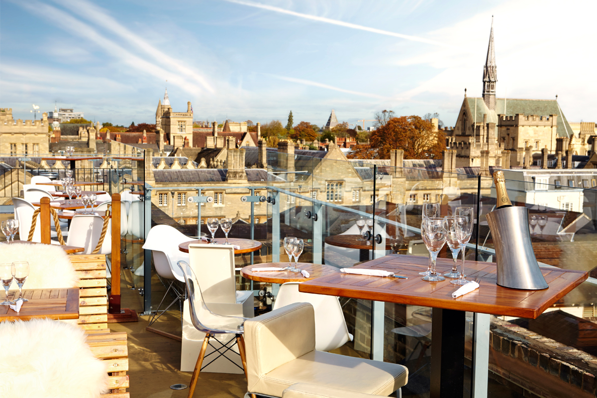 The Varsity Club Roof Top Bar With Stunning View Over Oxford